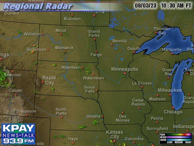 South Central US Doppler Radar Map