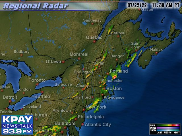 Northeast US Doppler Radar Map