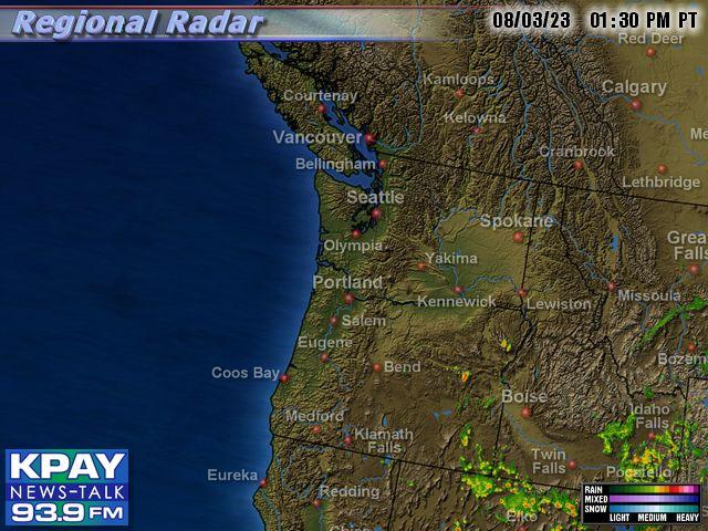 Nw Usa Map.Northwest Us Doppler Radar Map