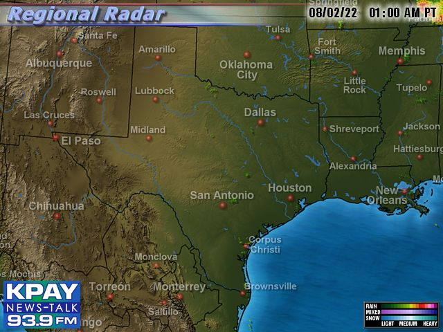 South Central US Doppler Radar Map - Map of south central us