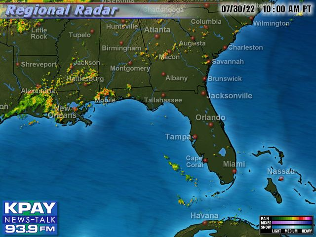 Southeast US Doppler Radar Map